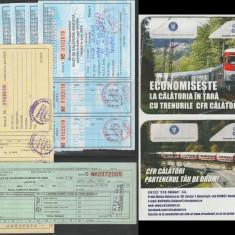 Colectie 430 bilete circulate de tren, CFR, Regio, TFG, carnete cupoane
