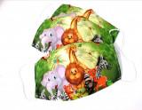 Masca protectie copii, reutilizabila din bumbac cu imprimeu Leu, 2 straturi, ACD506