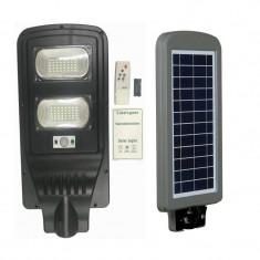 Proiector panou solar 60W senzor miscare si lumina telecomanda lampa stradala