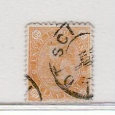 Romania  1894   Carol I  - Cifra in 4 colturi  50  b. stampilat   filigran  PR