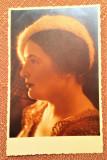 Profil de femeie. Fotografie veche sepia - Foto-Mandel, Ramnicu Sarat
