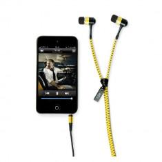 Aproape nou: Casti audio hi-Fun hi-Zip culoare galben cod 13197