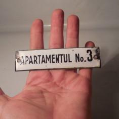 TABLITA VECHE DE APARTAMENT - EMAILATA - AP. NO. 3