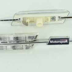 Lampi laterale LED semnalizare transparente compatibile BMW. COD: ART-7127 ManiaCars