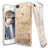 Husa Ringke Air Prism Glitter Ultra Thin 3D Shining Cover Gel TPU pentru iPhone 8 Plus 7 Plus transparent (APAP0011 RPKG)