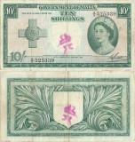 1954, 10 Shillings (P-23a) - Malta
