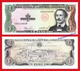 !!! REPUBLICA  DOMINICANA - 1 PESO ORO 1984 - P 126 a2 - UNC