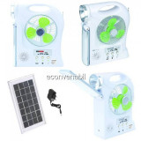 Kit Solar Lampa LED 1W, Neon, Ventilator, Radio, SD si USB YJ5865FSYKT