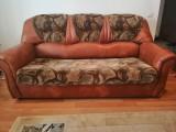 Canapea extensibila 3 locuri + 2 fotolii + topper 140x190x8cm