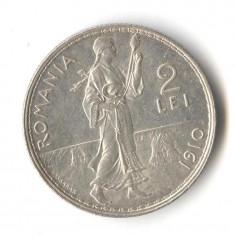 Moneda din argint 2 Lei 1910 - stare foarte buna Romania REGAT