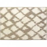 Covor 67x120 cm, crem/alb, LIBAR