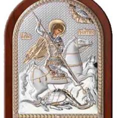 Icoana Argint Sf.Gheorghe 6X8.5 Cm Auriu Cod Produs 2554