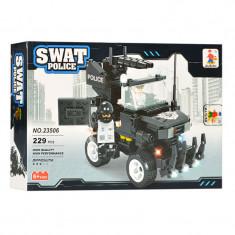 Set constructie masina Swat Police Ausini, 229 piese