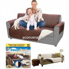 Husa de Protectie cu 2 Fete pentru Canapea Couch Coat