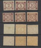 1881 Romania taxa de plata serie neuzata 6 valori guma originala MNH/MLH