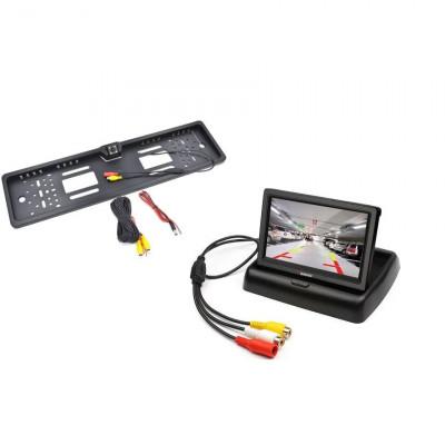 Kit 2 în 1 suport numar cu camera marsarier si monitor LCD 4.3 Inch foto