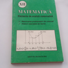 ELEMENTE DE ANALIZA MATEMATICA CLASA A XII A REZOLVAREA PROBLEMELOR DIN MANUAL
