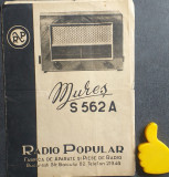 Instructiuni folosire Radio Popular Mures S 562 A + Schema de principiu