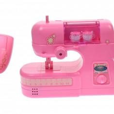 Masina de cusut de jucarie electrica, cu buton, roz - 2030A