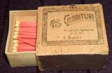 Chibrituri RMS de 5 bani - cutie rara din lemn chibrituri romanesti Filaret 1895