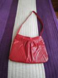 Geantă nouă din piele roșie pentru femei