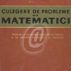 Culegere de probleme de matematici