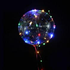 Balon party LED multicolor, forma rotunda, diametru 45 cm