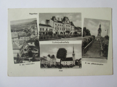 Carte postala colaj foto Odorheiu Secuiesc anii 40 foto