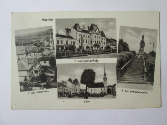 Carte postala colaj foto Odorheiu Secuiesc anii 40