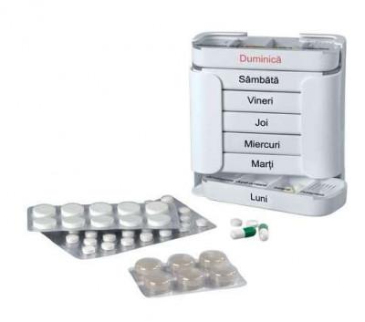 Cutie vitamine , organizator medicamente, reminder pastile model 6 foto