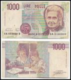 Italia - 1000 lire - 1990 (B0049) - starea care se vede