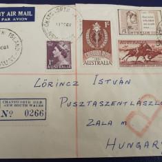 1961 - Recomandata circulata Chatsworth Island(AUS) - Ungaria