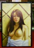 Tablou pictat manual pe panza in ulei, A-060, Natura, Realism