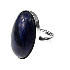 Inel argint reglabil masiv lapis lazuli 25x18 MM
