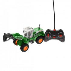 Utilaj de jucarie cu telecomanda, verde, cu sunete si luminte - JC164