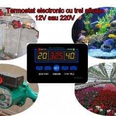 Termostat electronic digital Controler temperatura 12V sau 220V cu releu 10A