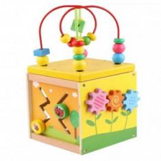Cub educativ lemn Montessori 5 in 1