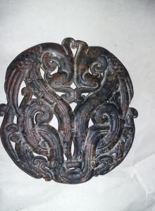 PANDANTIV/MEDALION Vechi superb tip Antic,medalion masiv SERPI,T.GRATUIT