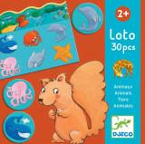 Joc asociativ, de clasificare, cu imagini - Loto cu animale Djeco