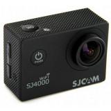 Camera video actiune SJ4000 Wifi neagra, include carcasa rezistenta la apa (pana la 30m), rezolutie senzor: 12 mega pixeli, SJCAM