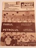 Revista - SPORT (Farul Constanta,Petrolul Ploiesti) nr.3/februarie/1967)