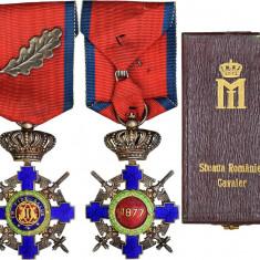 Steaua României, cu panglica de Virtute Militara şi frunză de stejar, 1938