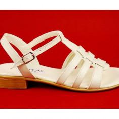 Sandale dama din piele naturala bej - Made in Romania S2BEJ