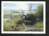 Loc 2 - LOCOMOTIVE/TRENURI - LIBERIA - COLITA NESTAMPILATA, MNH