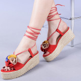 Sandale dama Yolanda rosii