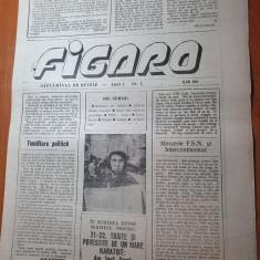 ziarul figaro anul 1,nr.1 din 1990- art. eminescu era ortodox