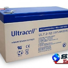 Acumulator plumb acid Ultracell cu borne late 12V 7.2AH