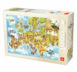 Cumpara ieftin Puzzle Cartoon Map - Europe, 1000 piese