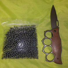 1.000 bile otel metal 6 mm. pt pistol walther p 99 dao + briceag rozeta pumnal