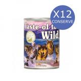 Cumpara ieftin Bax 12 Conserve Taste Of The Wild Wetlands 390 gr.